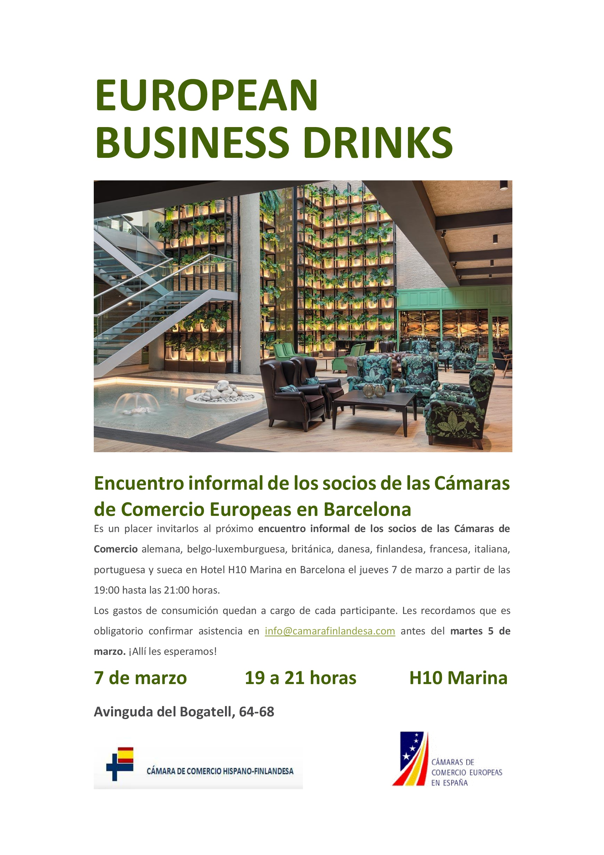 European Business Drinks Marzo BCN